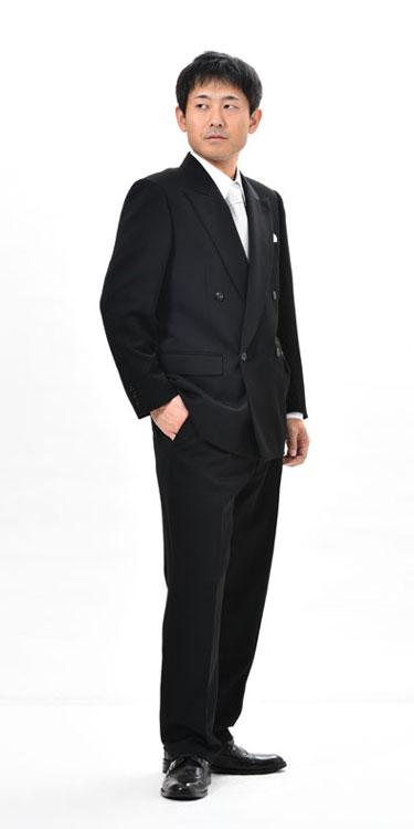【サイズ限定】夏用 ブラックスーツ ダブル 略...の紹介画像2
