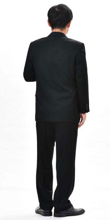 【サイズ限定】夏用 ブラックスーツ ダブル 略...の紹介画像3