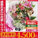 あす楽 正午まで★ 誕生日 記念日 お祝い 花 ギフト に 感激おまかせLサイズ 花束 ブーケ 送料