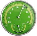 ドリテック 温湿度計 グリーン O-310GR