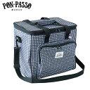 送料無料 保冷バッグ ポンパッソ ソフトクーラーボックス ギンガムチェック M-12758