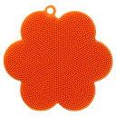 【送料無料メール便専用】 網目のざるも洗いやすいキッチンブラシ オレンジ F8561