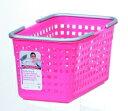 ランドリーや収納に使えるシンプル&明るいシリーズスカンジナビアスタイル バスケットS ピンク...