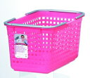 ランドリーや収納に使えるシンプル&明るいシリーズスカンジナビアスタイル バスケットM ピンク...