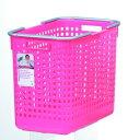 ランドリーや収納に使えるシンプル&明るいシリーズスカンジナビアスタイル バスケットL ピンク...