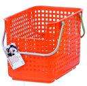 スタッキング可能。スカンジナビアスタイル ランドリーサポートバスケット オレンジ scb-6