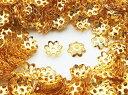 ビーズキャップ 6mm ゴールド 座金 花座 1000個 (AP0820)
