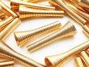 ビーズキャップ 等に カップ径9mm 全長27mm ゴールド KC金 40個 スペーサー コイル 貫通 キャップ アクセサリー 金具 AP0912