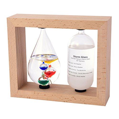 温度計・湿度計 ベージュ(茶谷産業)