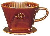【ポイント2倍】Kalita 陶器製コーヒードリッパー 102-ロト ブラウン #02003
