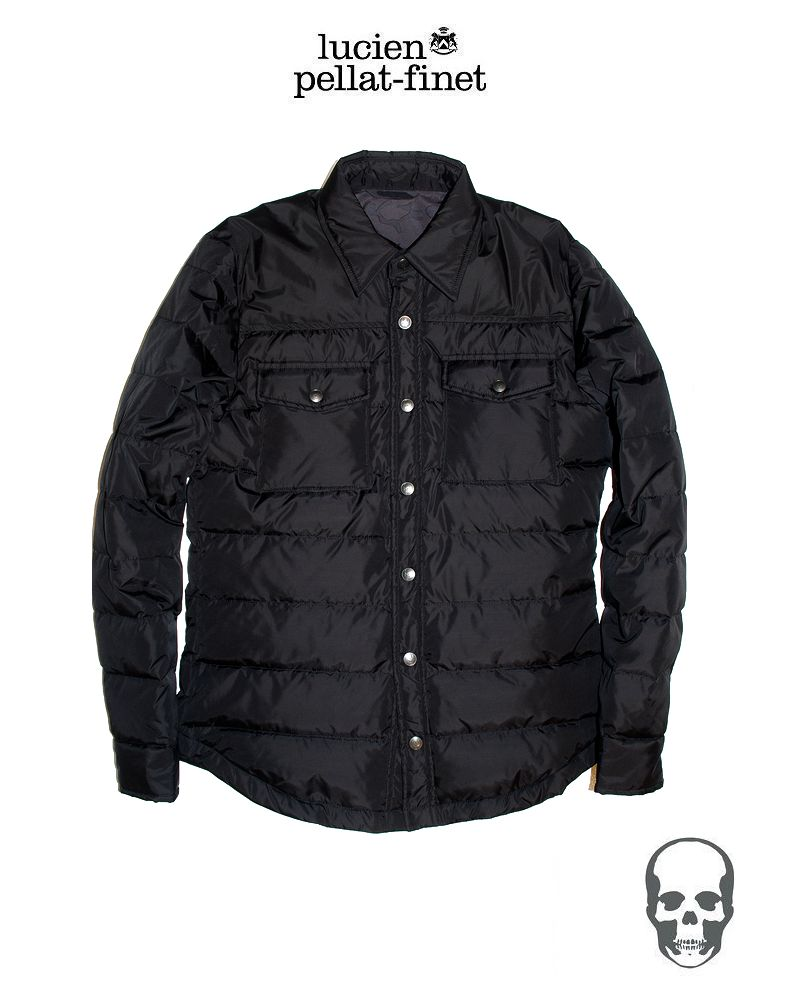 "�ڥ륷����ڥ�ե��֥ͥ�å�.�����󥷥�ĥ��㥱�åȡۡ�lucienpellat-finet""Black-ShirtDownJacket�ۡ�P15Aug15��"