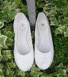 """CROWN-JAZZ.BALLET SHOES/white【英国製ジャズバレエシューズ""""クラウン/ホワイト】"""