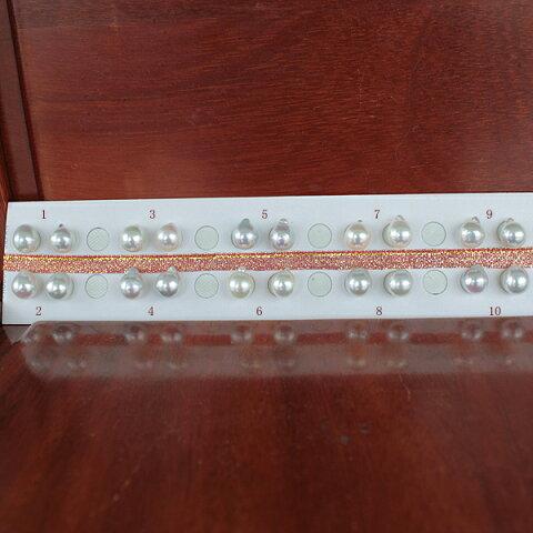 ●アコヤ真珠越し物<ルース>無穴<無調色><Top quality><Baroque Shape>8.75-9mm(横幅)×2個 直結 or ブラ <Titan Piace><Excellent Special>SV EG K14WGピアス などはオプション。選択くださいせ。
