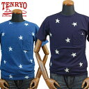 TENRYO DENIM倉敷天領デニム 先染インディゴポケット付Tシャツ「STAR」TDT025