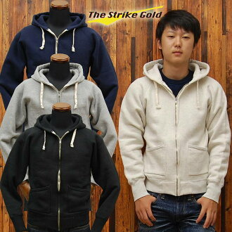 ストライクゴールド THE STRIKE GOLD hanging knit full ZIP sweat parka plain 'SGC004' ◆ casual ◆