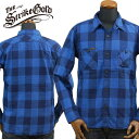 THE STRIKE GOLDストライクゴールド インディゴネルチェックワークシャツINDIGO NEL CHECK WORK SHIRTSネルシャツ「SGS0...