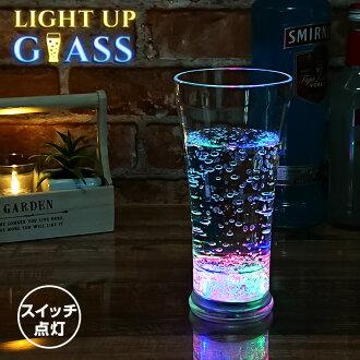 光︰ 玻璃 [閃亮閃亮玻璃杯杯 LED 杯玻璃 LED 玻璃事件雞尾酒香檳方 7彩 Bargoods]