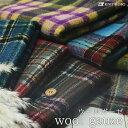 【布帛 ウールコットン★チェック 全7色】ゆるふわ織りで軽いタッチのこだわりウールガーゼ【50cm単位】(bb-250)