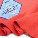 吸汗速乾エアレットフライス レッド ソフトなフィット感 機能素材の付属に ニット生地