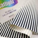 光触媒キャットライト 20Sツイル ストライプ柄 ネイビー UVカット 消臭 抗菌 綾織り布帛