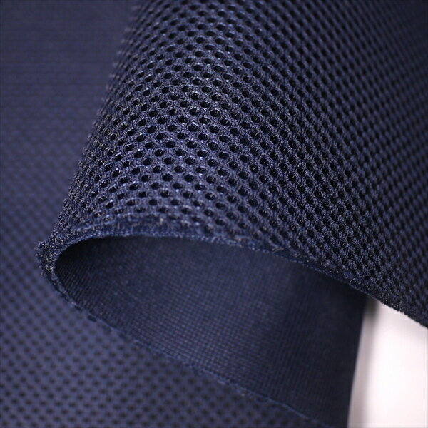 ダブルラッセルメッシュ(抗菌無し) ネイビー 厚手ハードタイプ150cm巾【クッション性】【ニット生地】【バッグ シート 素材】