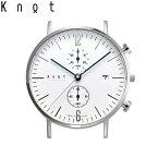 """Knot(ノット)""""クラシック クロノグラフ""""【NEW COLOR MODEL】シルバー & ホワイト時計本体のみ(ベルト別売り)腕時計/メンズ/レディース/サファイアガラス/日本製/MADE IN JAPAN/送料無料"""