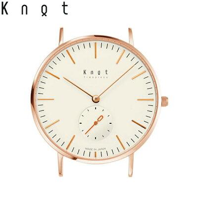 """Knot(ノット)""""クラシックスモールセコンド""""【Makuakeモデル】ローズゴールド&アイボリー時計本体のみ(ベルト別売り)腕時計/メンズ/レディース/サファイアガラス/日本製/MADEINJAPAN/送料無料"""