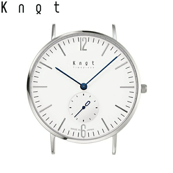 """Knot(ノット)""""クラシック スモールセコンド""""シルバー & ホワイト時計本体のみ(ベルト別売り)腕時計/メンズ/レディース/サファイアガラス/日本製/MADE IN JAPAN/送料無料 「今日の服に、今日の時計」CS-36SVWH1"""