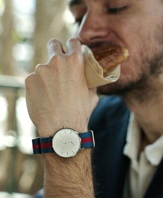 """Knot(ノット)""""クラシックスモールセコンド""""シルバー&ホワイト時計本体のみ(ベルト別売り)腕時計/メンズ/レディース/サファイアガラス/日本製/MADEINJAPAN/送料無料"""