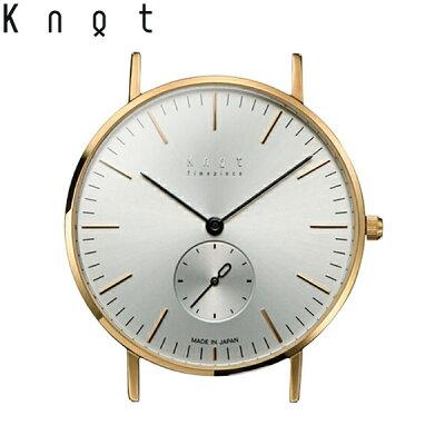 """Knot(ノット)""""クラシックスモールセコンド""""イエローゴールド&シルバー時計本体のみ(ベルト別売り)腕時計/メンズ/レディース/サファイアガラス/日本製/MADEINJAPAN/送料無料"""