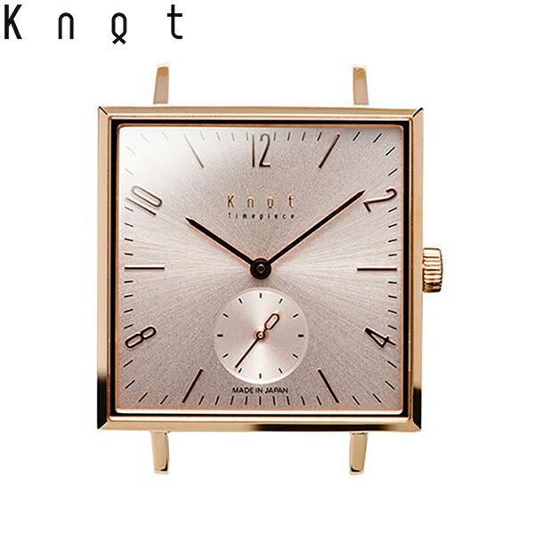 """Knot(ノット)""""クラシック スクエアスモールセコンド""""ローズゴールド & ローズゴールド時計本体のみ(ベルト別売り)ウォッチ/メンズ/男性/レディース/女性/サファイアガラス/日本製/腕時計/MADE IN JAPAN/おしゃれ/腕時計/"""
