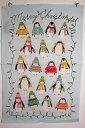 【クロネコDM便なら無料】アルスターウィーバーズ クリスマス ペンギン キッチンタオル タペストリー キッチンクロス
