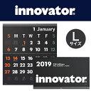 [送料無料]【innovator イノベーター】カレンダー壁掛<L>黒(ブラック) 2019(シンプル おしゃれ 大判 壁掛けカレンダー 2019年 壁掛け カレンダー 2019年カレンダー 2019年1月始まり 北欧 家族 大きい かわいい 大人 グッズ ウォールカレンダー 大 ウォール 壁 壁掛)