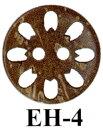 イナズマ 木工ボタン(6個入) EH-4
