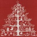 DMC 刺繍キット クリスマスツリー レッド×ホワイト(赤地に白糸)