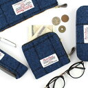 ハリスツイード ジップウォレット サイフ 財布 ミニ財布 コインケース プレゼント ギフト クリスマス かわいい おしゃれ