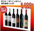 【送料無料】爽やか!赤ワイン6本セット