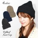 ショッピング毛糸 シンプルリブ編みニット帽【メール便送料無料】 帽子 レディース メンズ