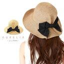 AURELIA LILIANA バックタックリボンハット【日本製】【送料無料】 帽子 レディース