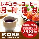 【8月】レギュラーコーヒー月刊福袋500g×6種類...