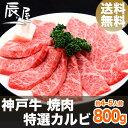 神戸牛 焼肉 特選 カルビ 800g(冷蔵)【送料無料 あす楽対応】【お歳暮 御歳暮 ギフ