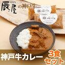 洋食屋の神戸牛カレー3食セット(1食約200g)【あす楽対応】【お歳暮 御歳暮 お祝い 御礼 に 牛