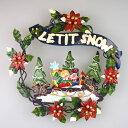 ショッピングsnowman 【在庫処分お宝セール】ブリキクリスマスリース スノーマン【クリスマスリース/クリスマス雑貨】