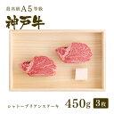 【神戸牛 贈り物に】ギフトにも!【特選A5等級】神戸牛シャトーブリアン(フィレ)ステーキ450g(3枚)