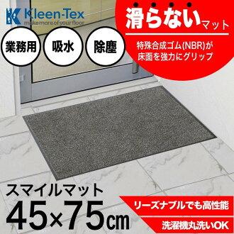 (Except Hokkaido, Okinawa and remote islands) indoor room for door mat smile mat 45x75cm grey free