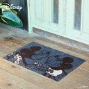 RoomClip商品情報 - Disney Mat Collection ディズニー 玄関マット Mickey/ミッキー ミニー 50 × 75 cm | 屋外 外 ブルー グレー 洗える 丸洗い 薄型 おしゃれ かわいい ずれない 滑り止め エントランスマット ドアマット 国産 日本製 クリーンテックス Kleen-Tex