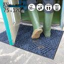 玄関マット スクレイプマットD (75×120cm:ダークグ...