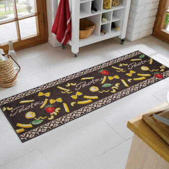 Wash+dry ( ウォッシュアンドドライ ) (excluding Hokkaido and Okinawa and remote islands) Pasta thin, sturdy washable kitchen mat 60 x 180cm屋 in and outdoor use