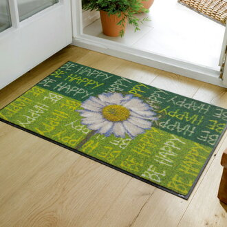 Wash+dry ( ウォッシュアンドドライ ) (excluding Hokkaido and Okinawa and remote islands) Be Happy thin, sturdy washable door mat 50 x 75cm屋 in and outdoor use