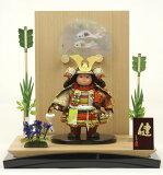 五月人形 子供大将飾り 兜 平台飾り 兜飾り 武者人形 平飾り 5月人形 子供大将 工房天祥オリジナル 健ちゃんシリーズ 「ミニ健」